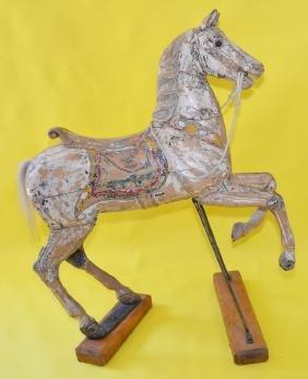 Friedrich Heyn Carved & Painted Wooden Carousel Horse