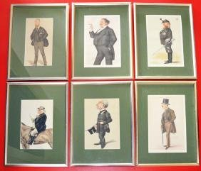 6 Framed Vanity Fair Spy Prints