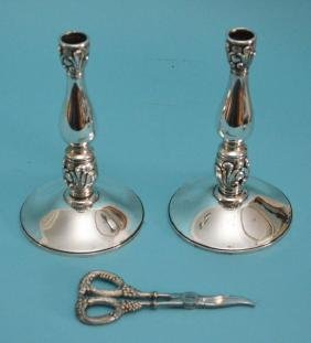 Royal Danish International Sterling  Candlesticks &