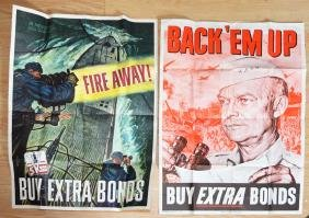 Two WWII War Bond Posters