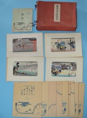 20 Image Hiroshige Woodblock Print Tokaido Folio