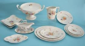 52pc Rosenthal China Painted Flower Dinner Service