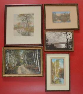 Nice Lot Of Vintage Wallace Nutting And Sawyer Prints