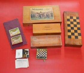 Lot Of Antique Games ( Minoru, Airport Game , Table