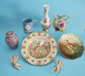 Continental Porcelain Lot with Chinese Ginger Jar
