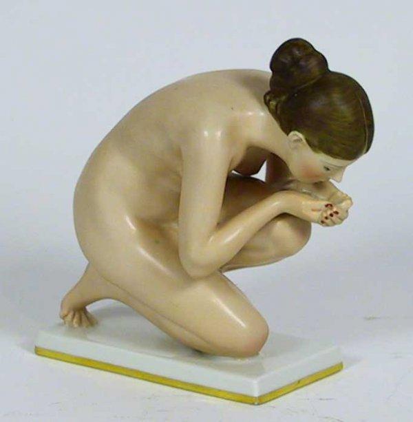 12: Rosenthal Kunstabteilung Selb Nude Art Deco figure