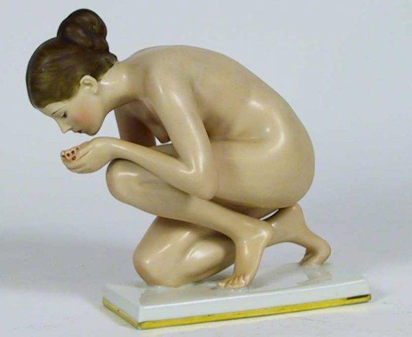 12: Rosenthal Kunstabteilung Selb Nude Art Deco figure - 3