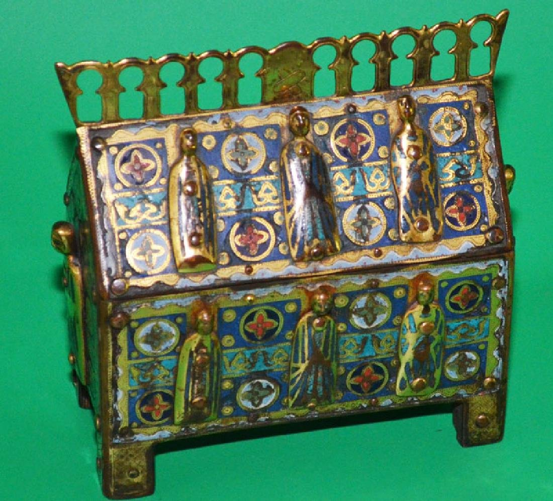 13th C. Style Champleve Reliquary Chasse