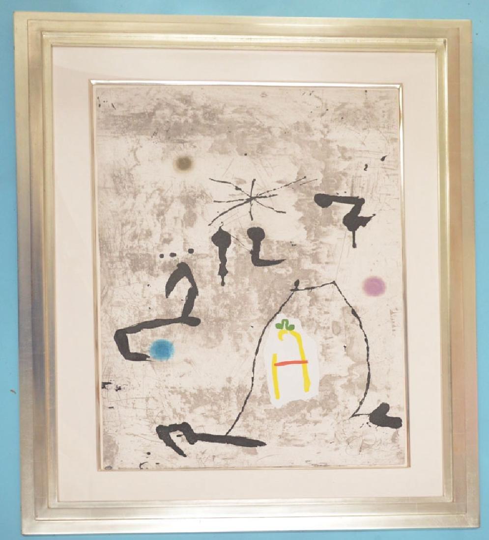 Signed Joan Miro Artist Proof Personatge I Estels V