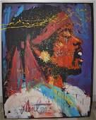 Monumental Denny Dent Jimi Hendrix Painting