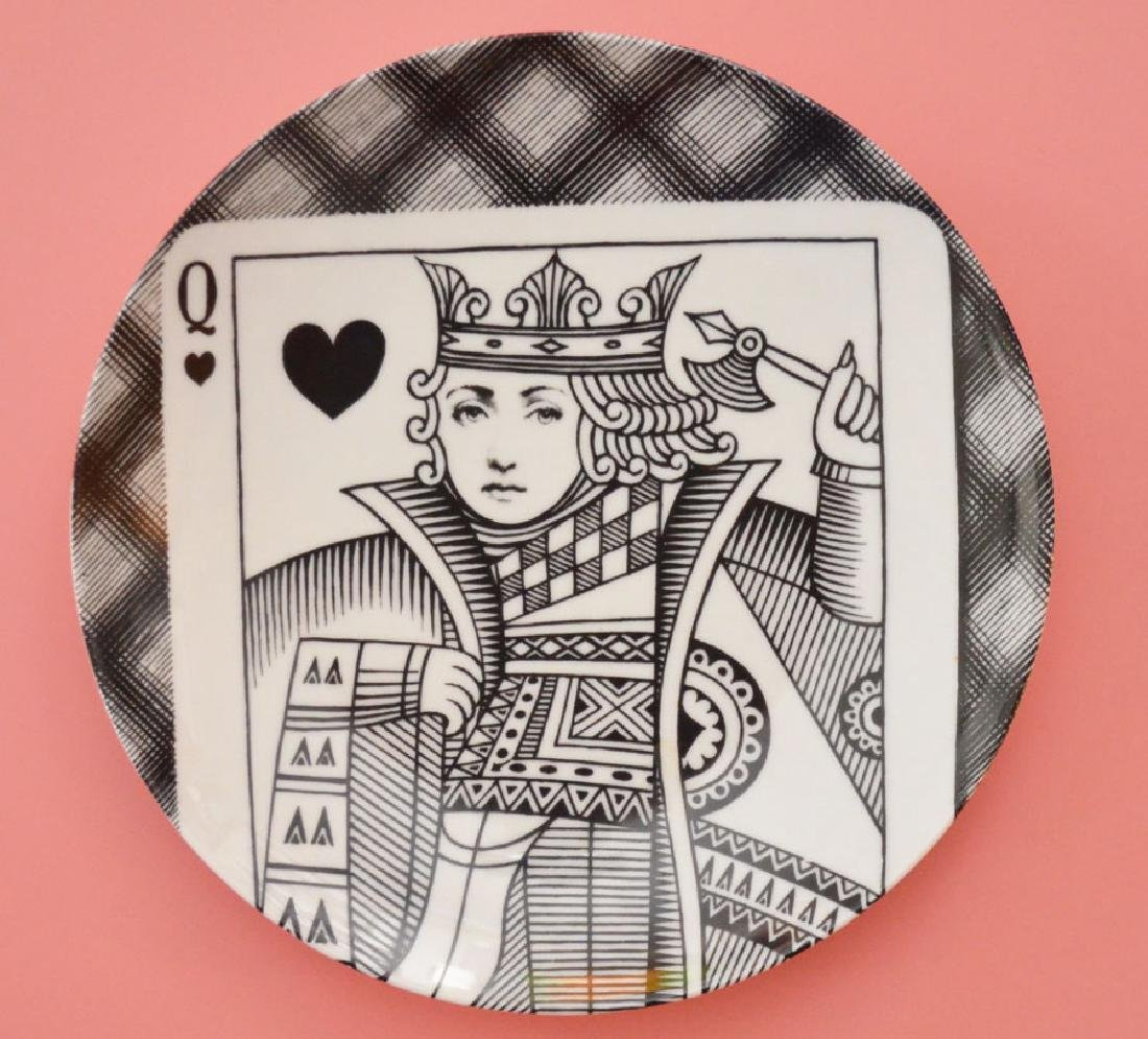 Fornasetti Queen of Hearts Variazioni Plate
