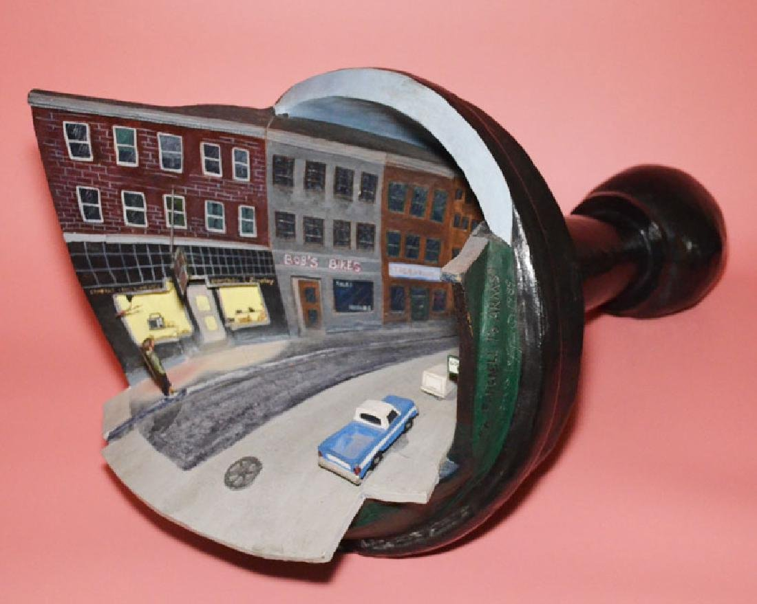 Awesome 1989 Signed Loff Clay Sculpture  Pawn Shop