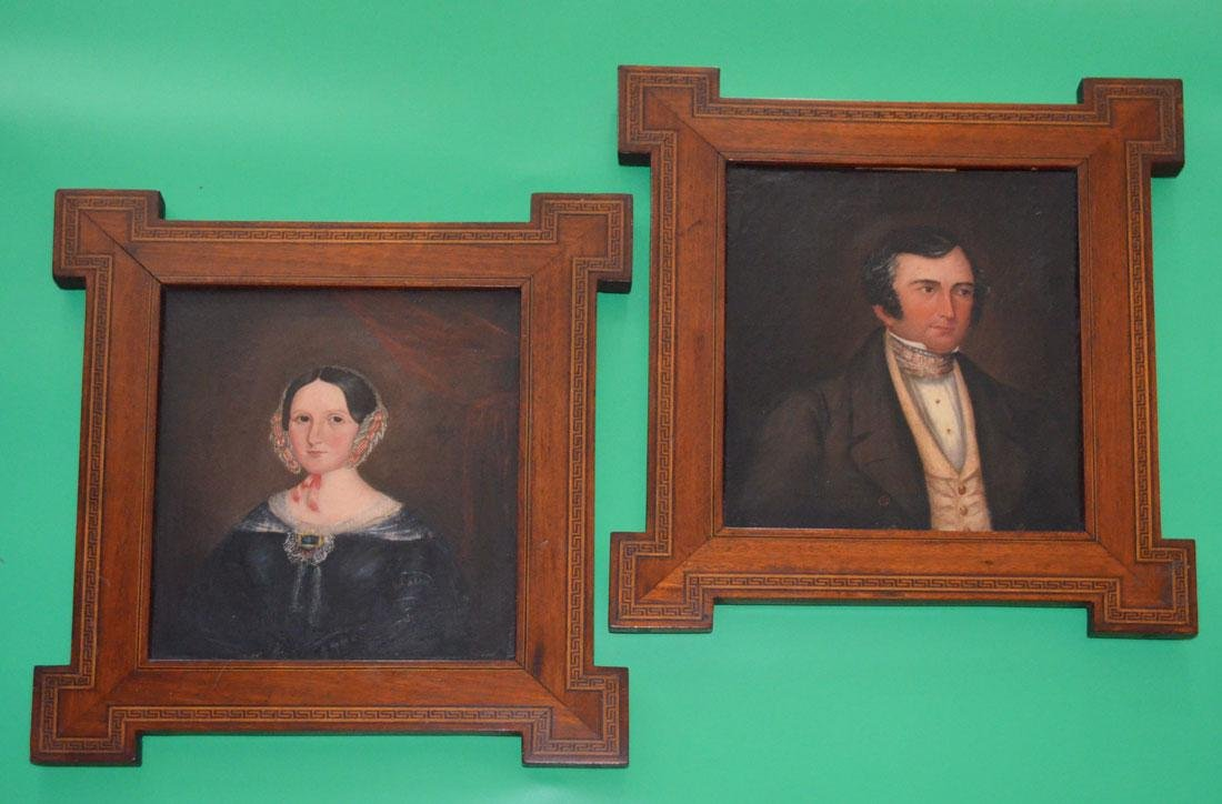 Pair of Exquisitely Framed Antique Portrait Paintings