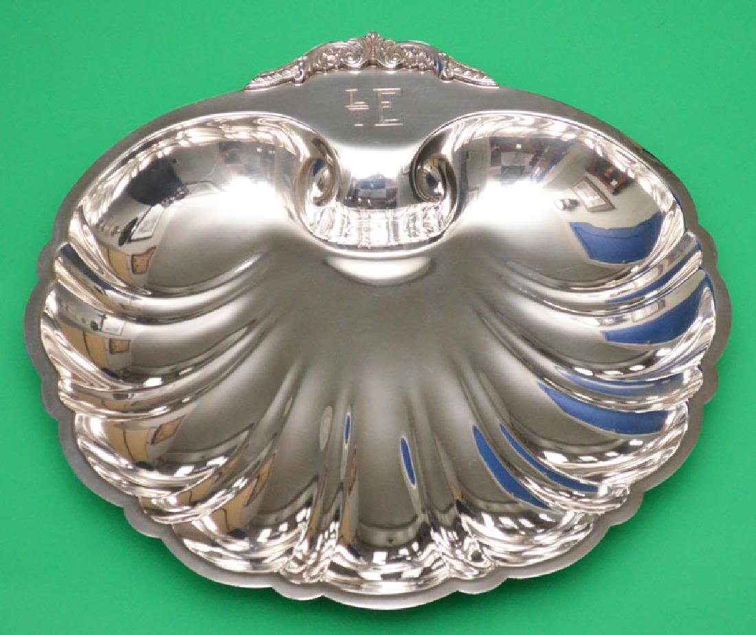 """Poole Sterling Silver  Footed Shell For Bowl """""""