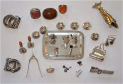 Lot Of Sterling Silver Jewelry and Miniatures