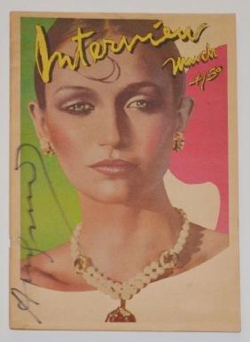 Signed Warhol Interview Magazine Flora Mcewen