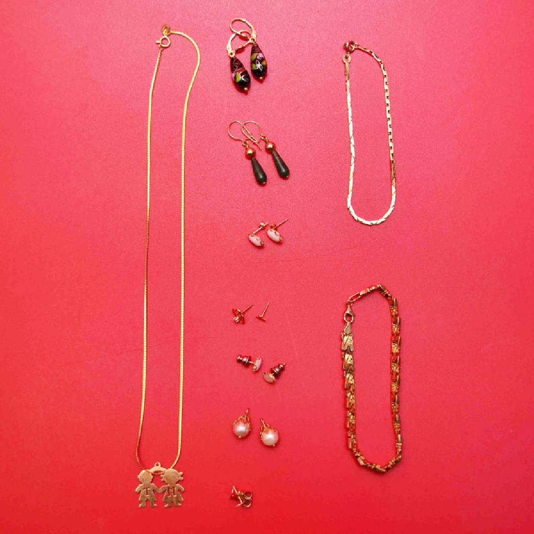 Vintage 14k Gold Jewelry (Necklaces, Earrings Etc)