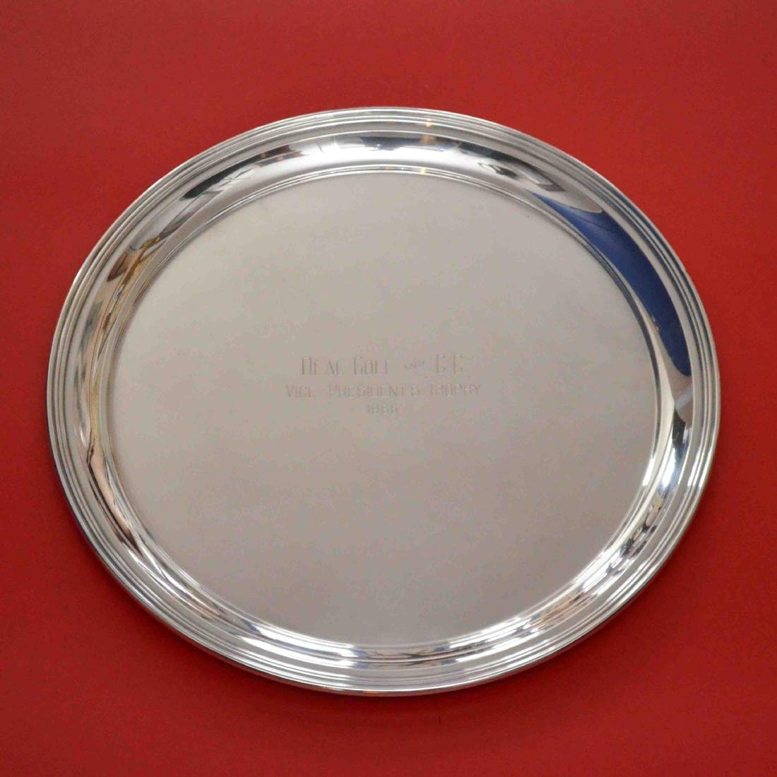 Reed & Barton 1962 Sterling Silver Trophy Tray