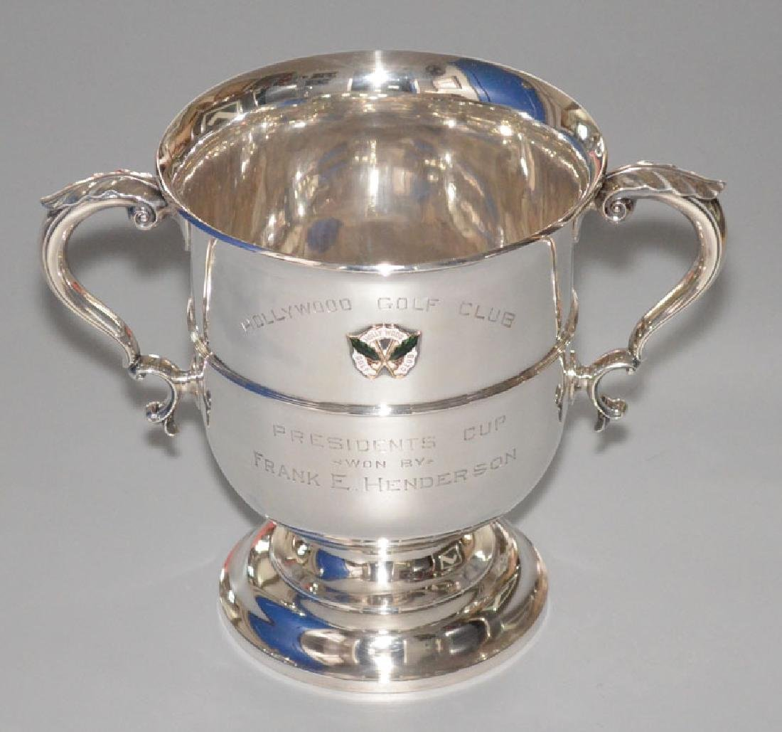 English Hollywood Sterling Silver Trophy