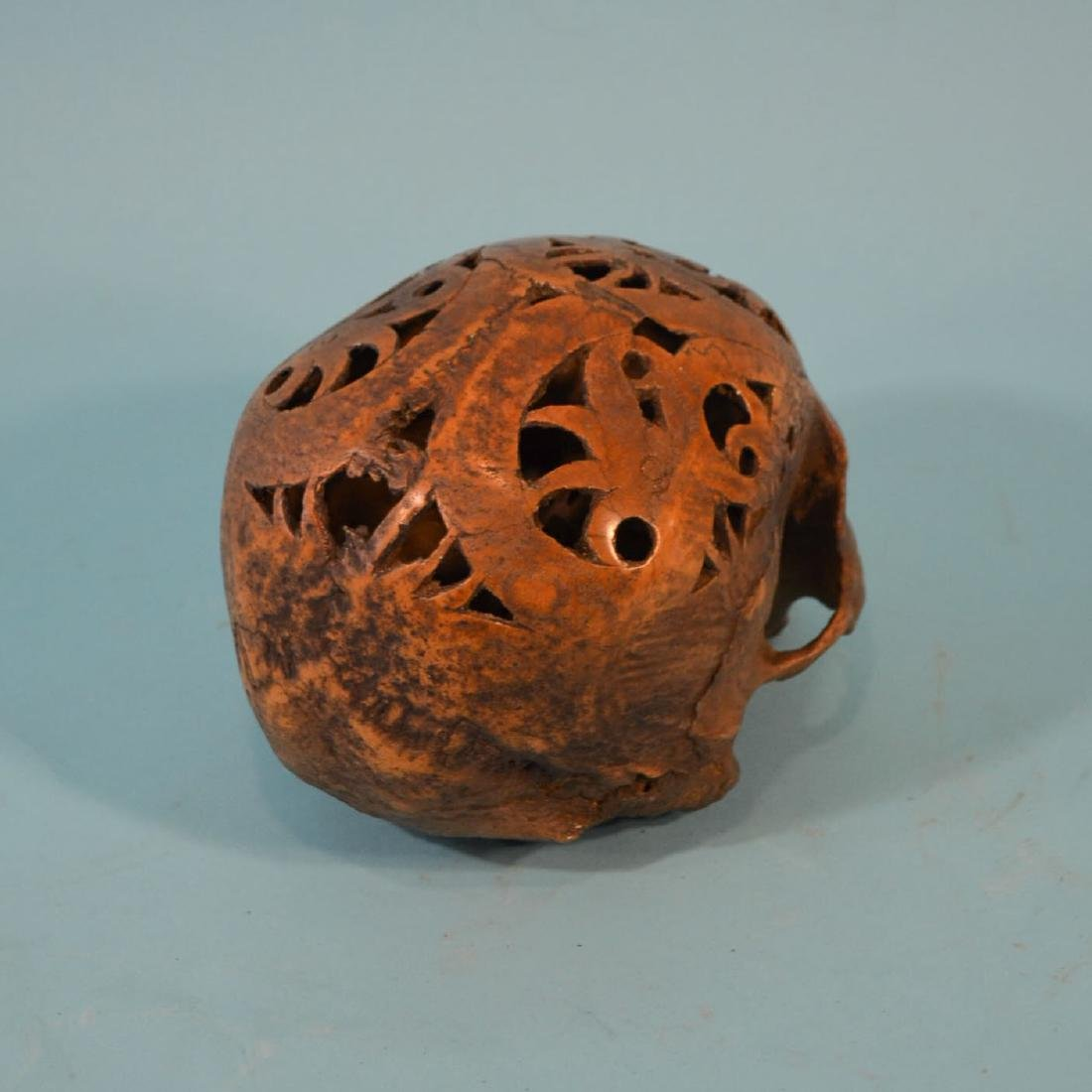 Carved Dayak Headhunting Trophy Skull - 2