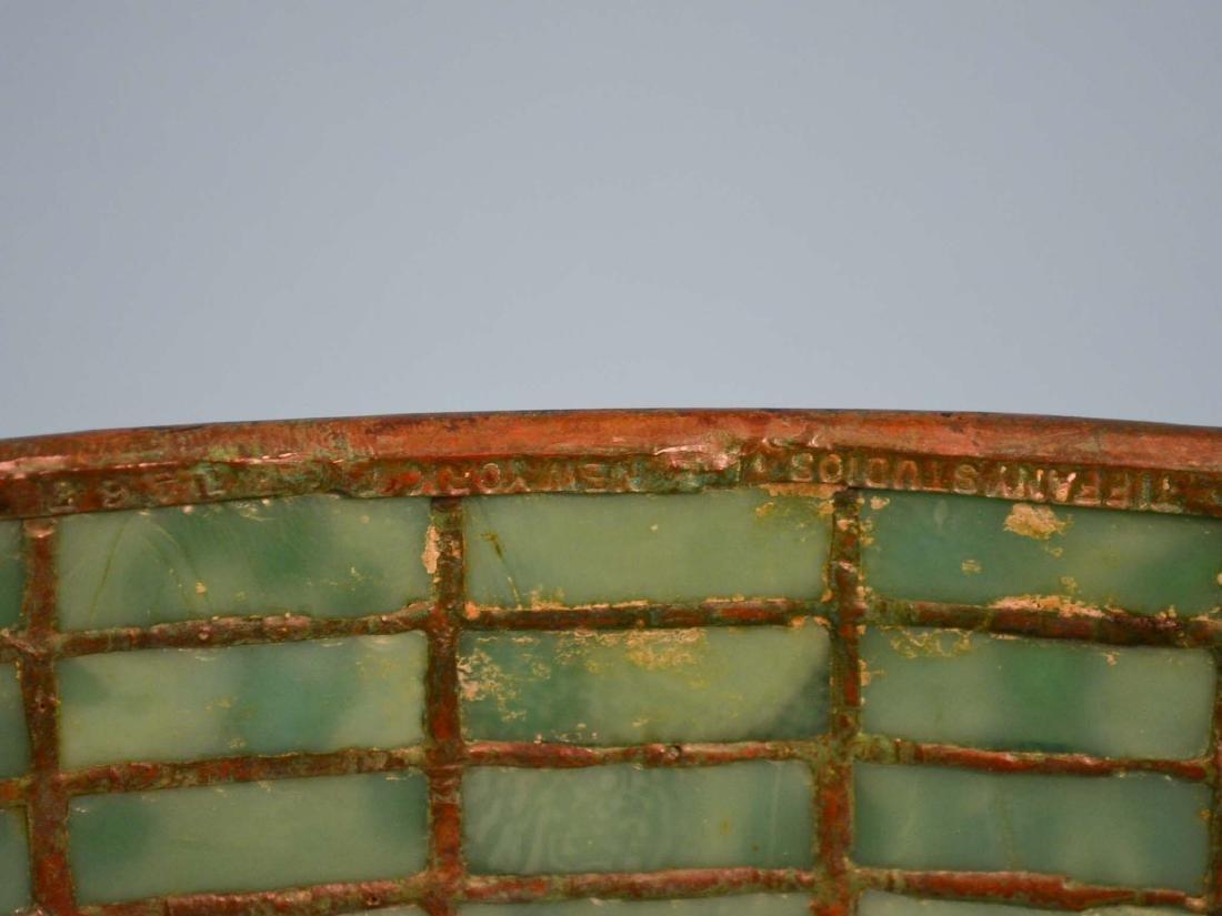 Tiffany Studios Acorn & Oak Leaf Stained Glass Lamp - 11