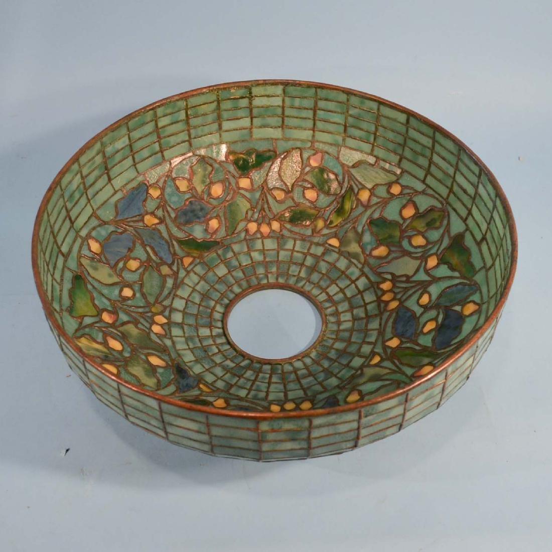 Tiffany Studios Acorn & Oak Leaf Stained Glass Lamp - 12
