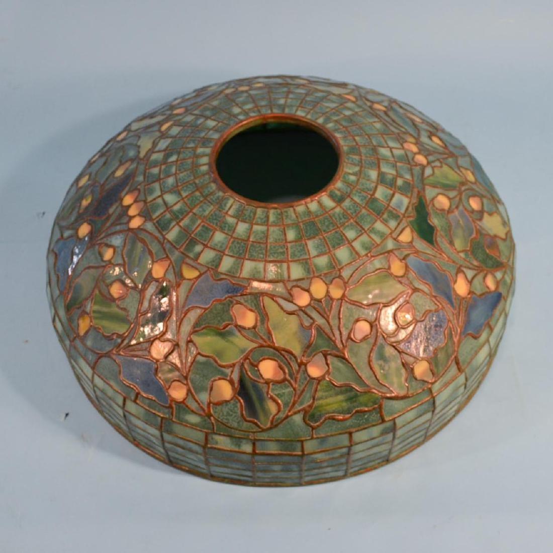 Tiffany Studios Acorn & Oak Leaf Stained Glass Lamp - 13