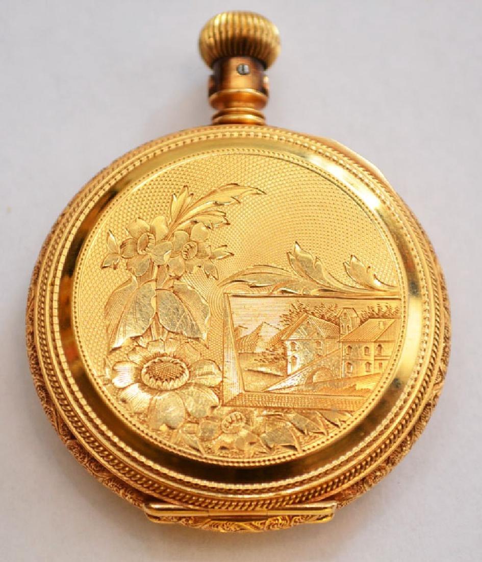 18k Gold Hunter Case  Elgin Pocket Watch