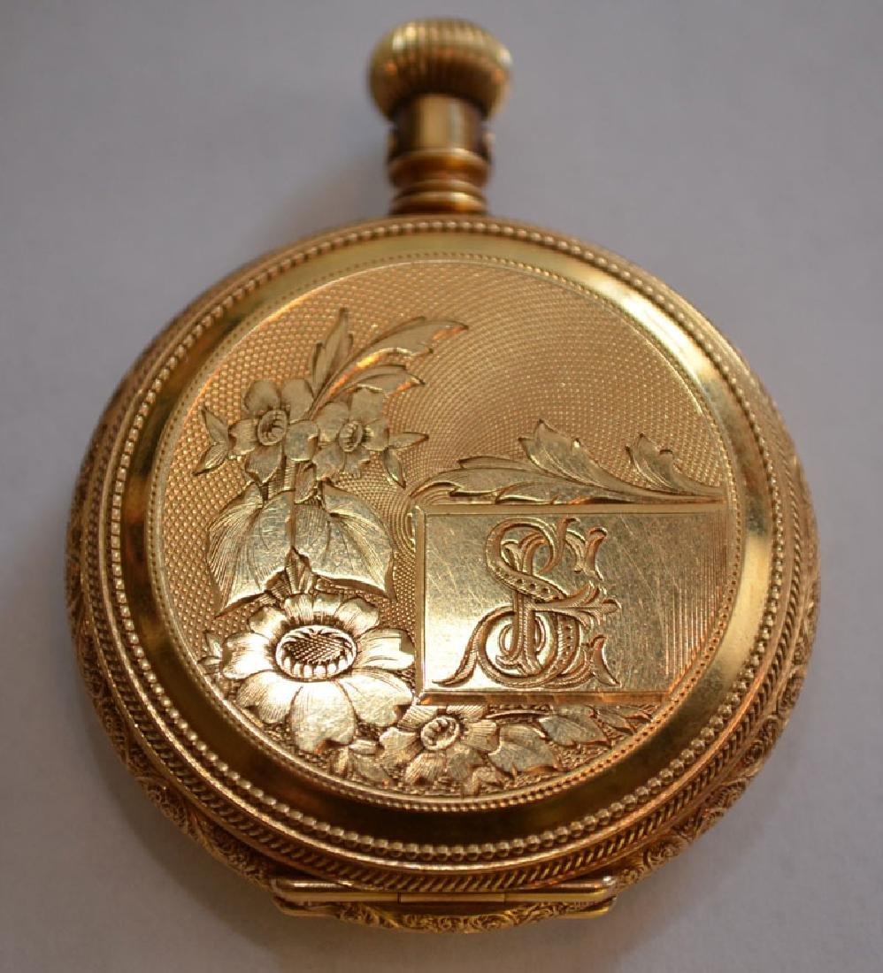 18k Gold Hunter Case  Elgin Pocket Watch - 2