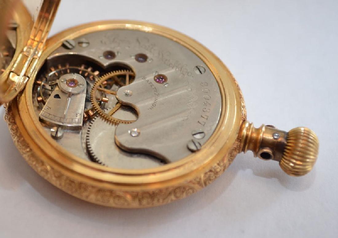 18k Gold Hunter Case  Elgin Pocket Watch - 4