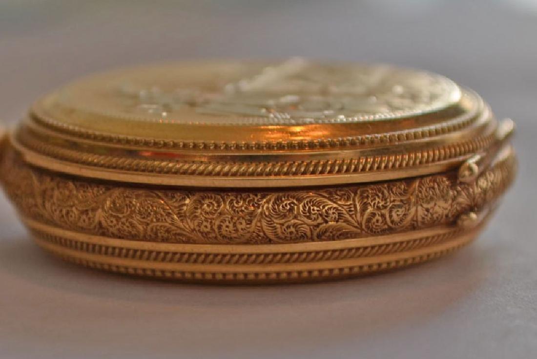 18k Gold Hunter Case  Elgin Pocket Watch - 6