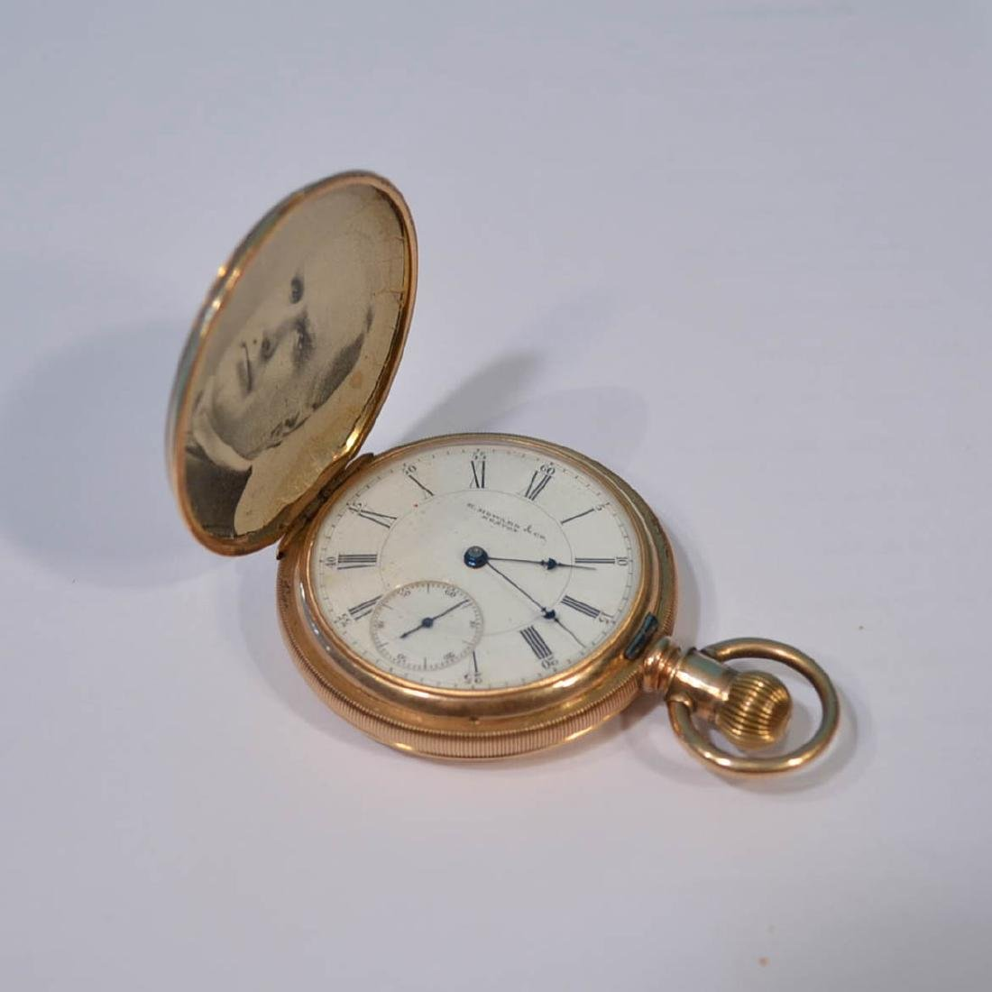 E. Howard Boston 14k Gold Hunter Case Pocket Watch - 3