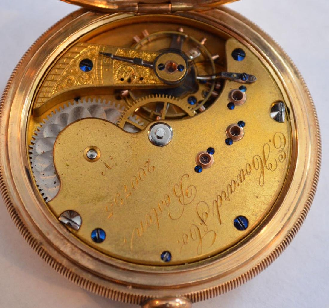 E. Howard Boston 14k Gold Hunter Case Pocket Watch - 5