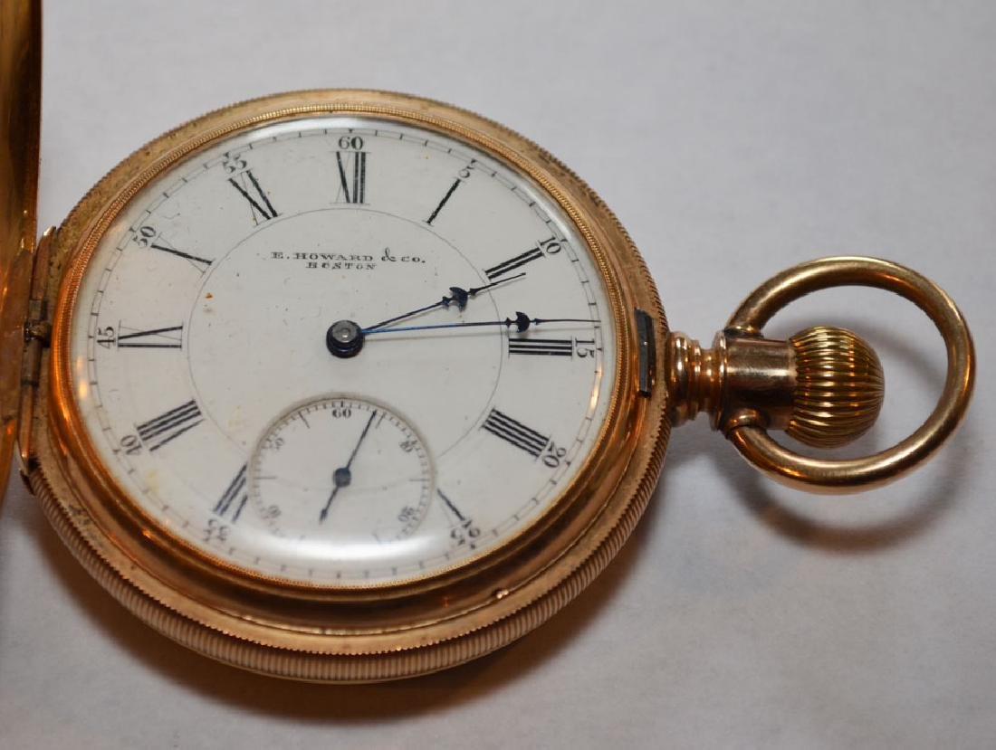E. Howard Boston 14k Gold Hunter Case Pocket Watch - 7