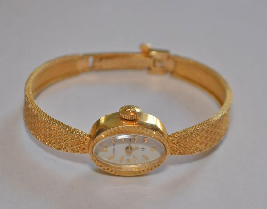 Divine 14k Gold Hamilton Ladies Wrist Watch