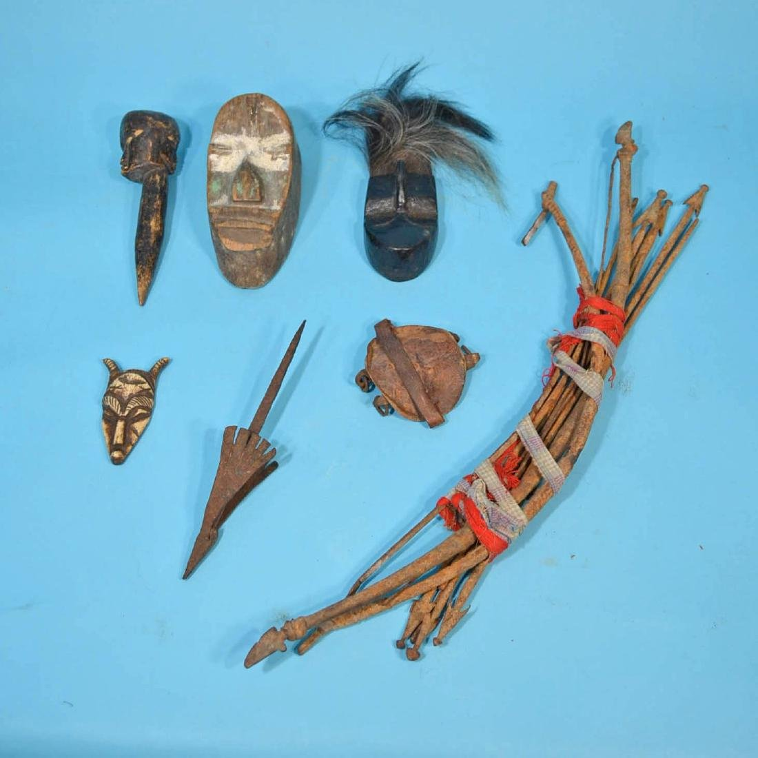 Vintage Liberia African Artifacts ( Bows & Arrows)