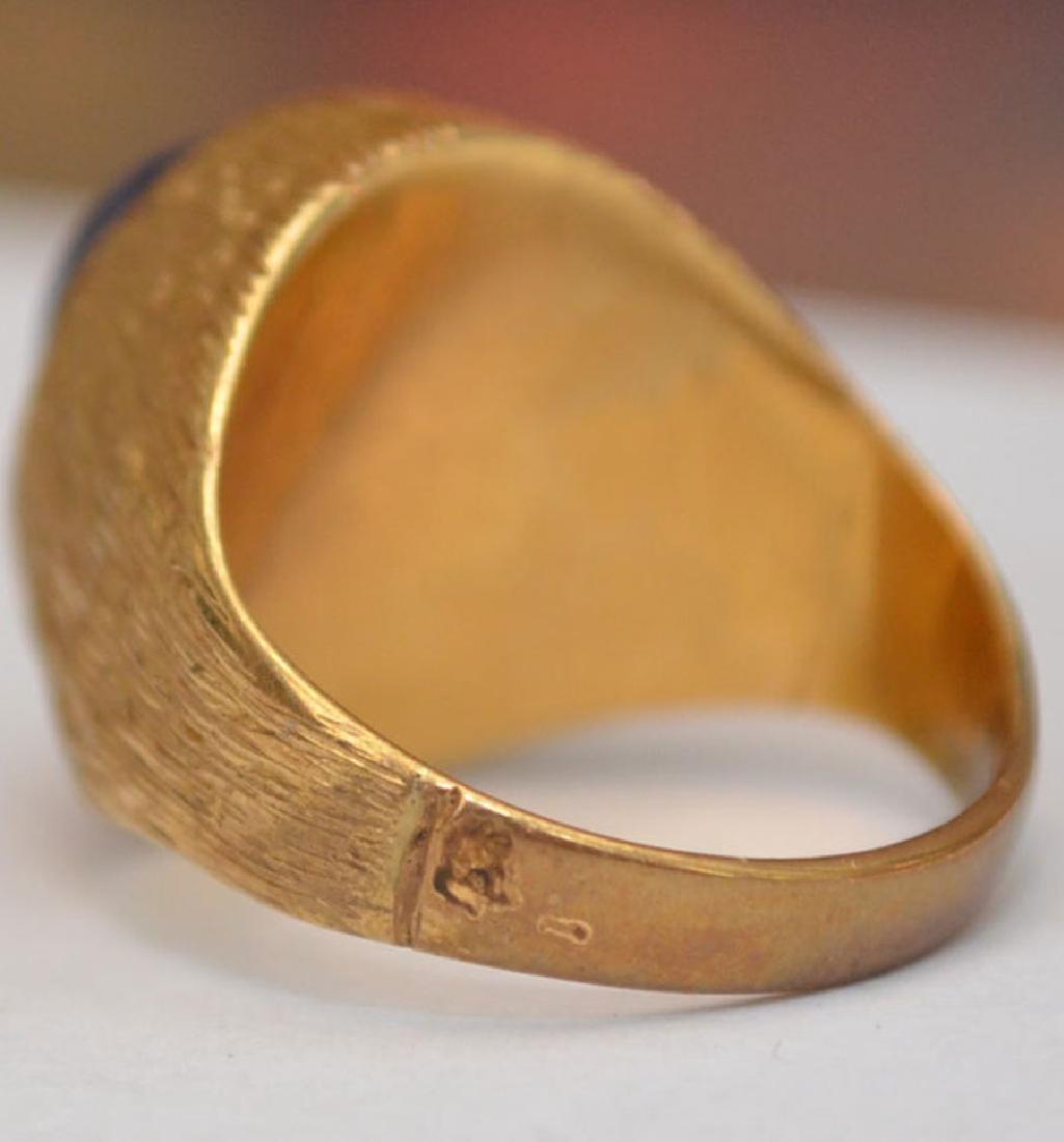 Men's Fabulous 18K Gold Star Sapphire Ring - 2