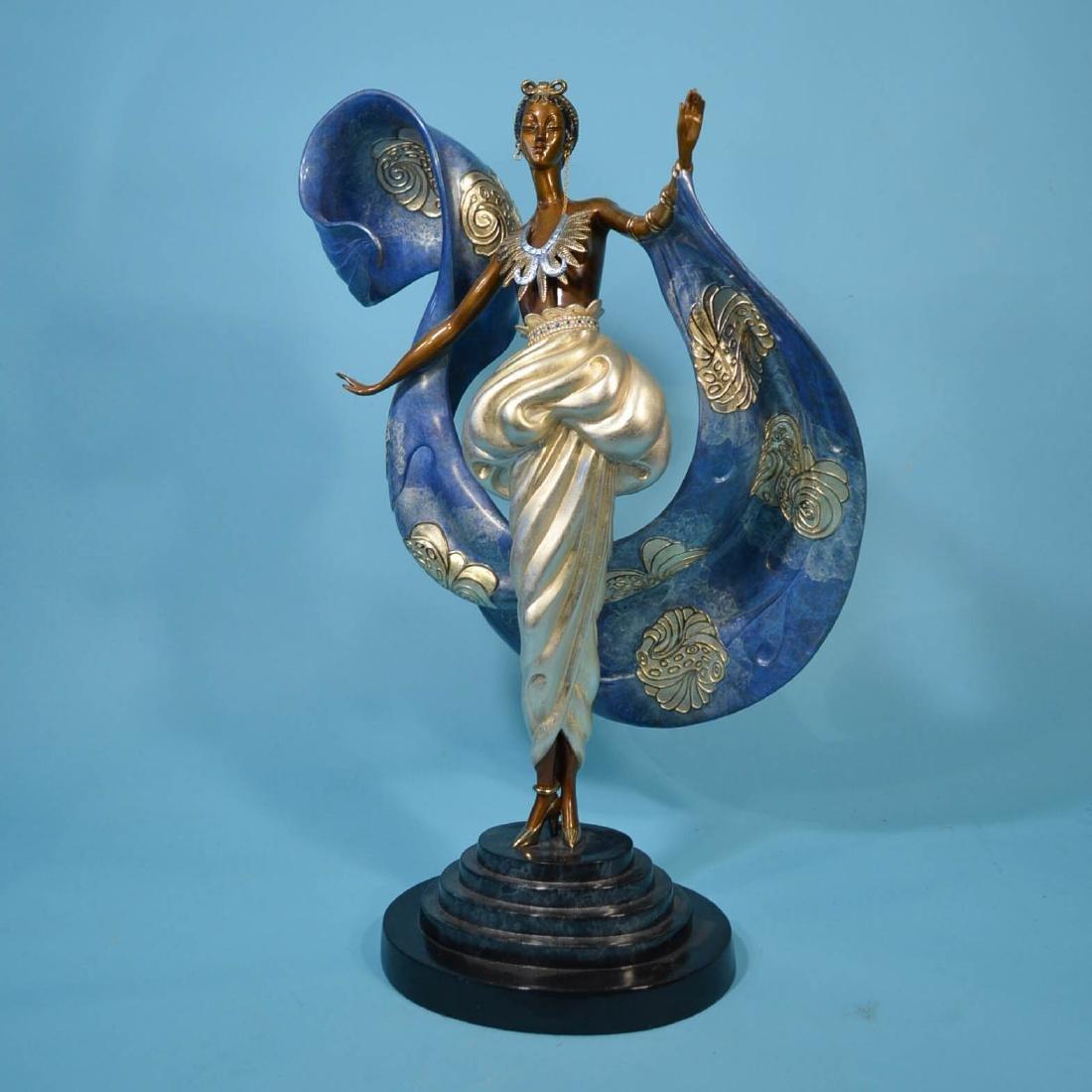 Wonderful Erte Dream Girl Bronze Statue