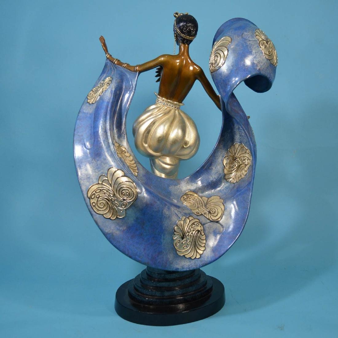 Wonderful Erte Dream Girl Bronze Statue - 2
