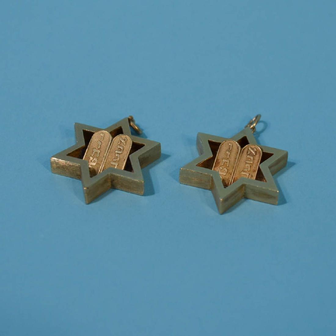 Two 14k Gold Religems Star of David Pendants