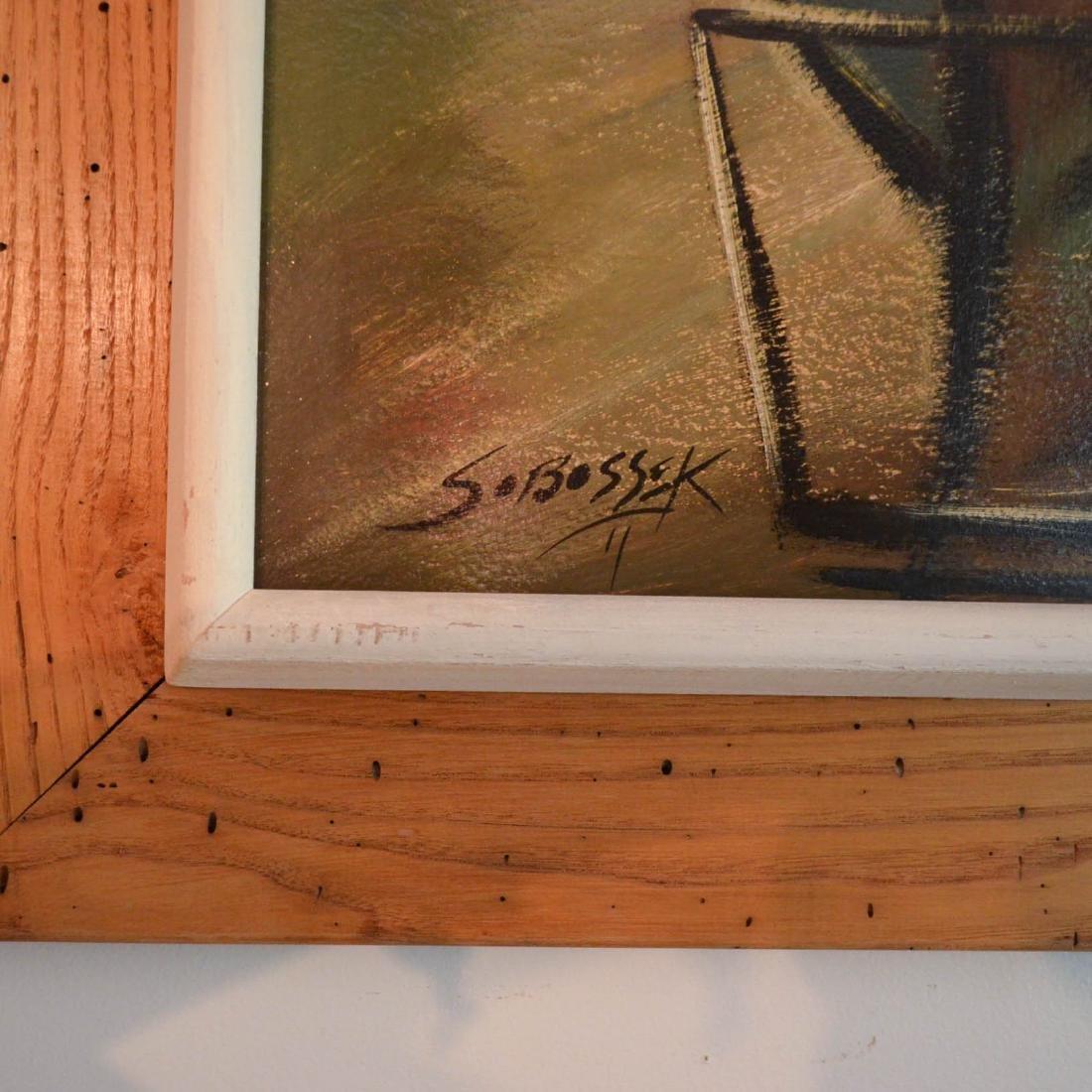 Wonderful O/B Painting of a Jazz Band Signed Sobossek - 2