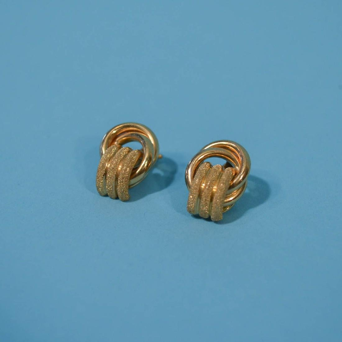 3 Pairs of Classic 14k Gold Earrings - 2