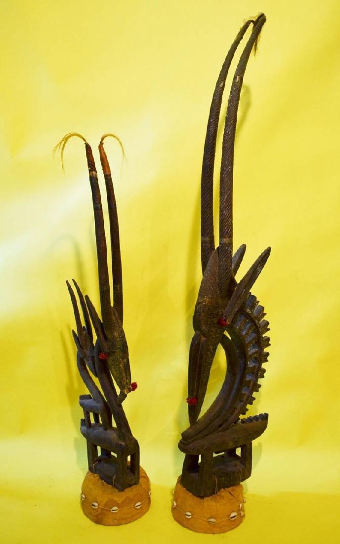 African Giselle Ornately Carved Headdresses
