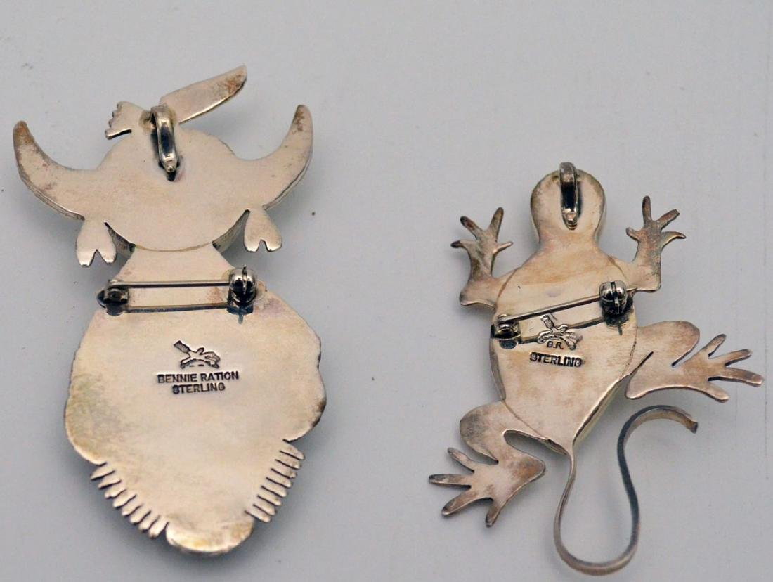 Sterling Silver Native American Jewelry (Pins, - 4