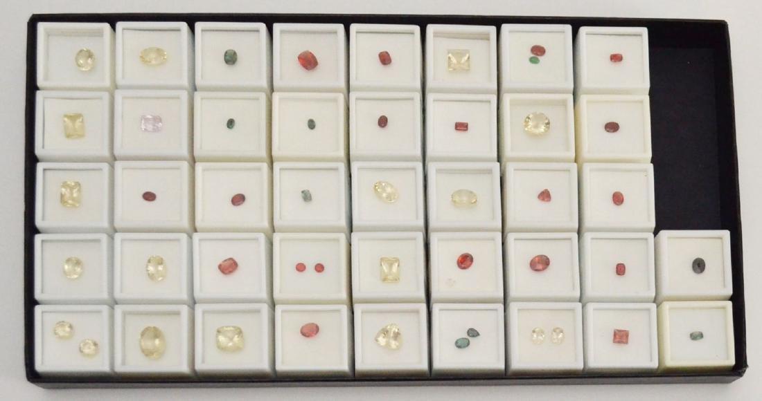 42 Labradorite Gemstones (Yellow, Red, Green)