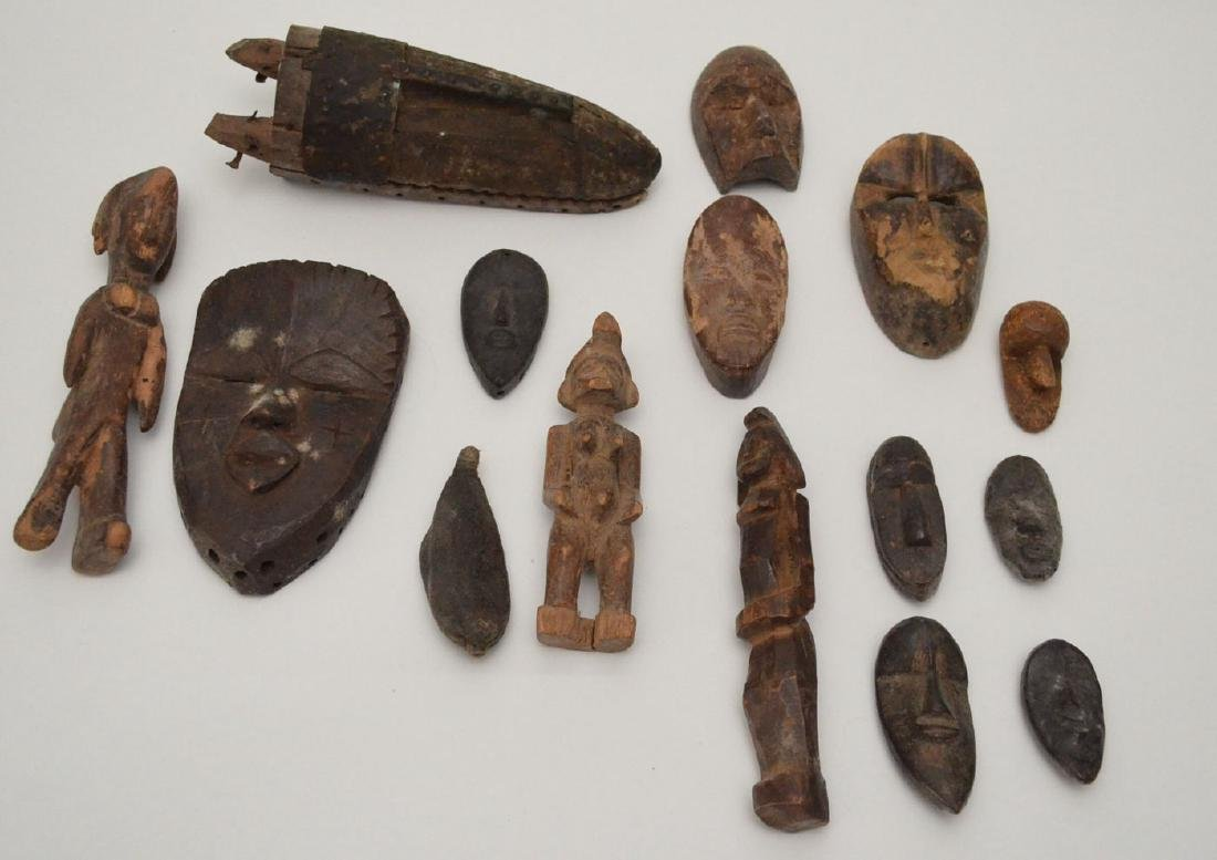 Large Group Of Ancient Passport Masks and Figures