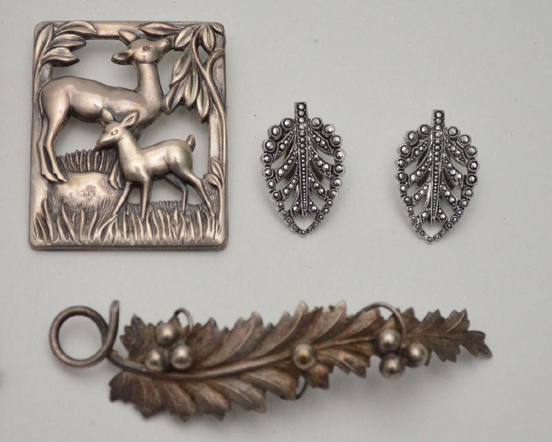 Large Group of Sterling Silver Jewelry (Pins) - 3