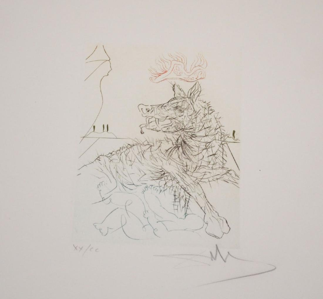 Unframed Signed Salvador Dali Etching Edition 20/200