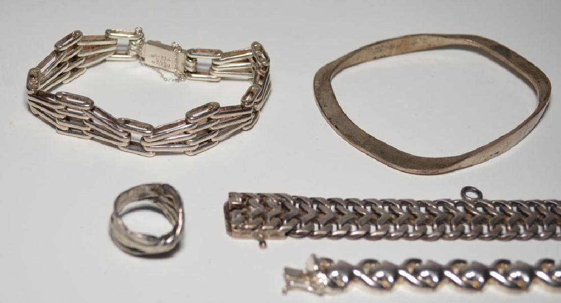 Heavy Sterling Silver Jewelry (Bracelets, Ring) - 2