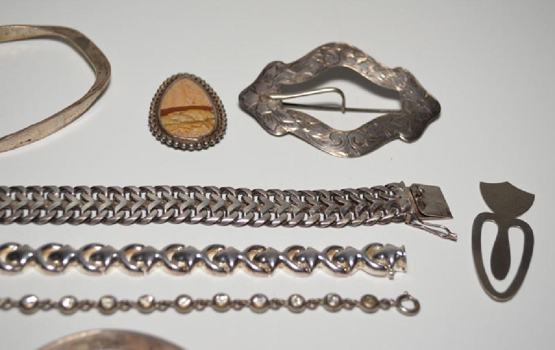 Heavy Sterling Silver Jewelry (Bracelets, Ring) - 3